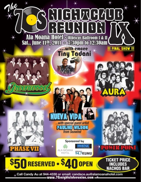 Hawaii 70s Night Club Reunion IX poster