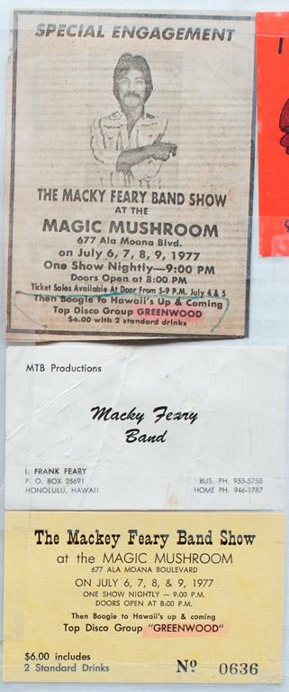 Aloha Got Soul: Mackey Feary, Greenwood at the Magic Mushroom