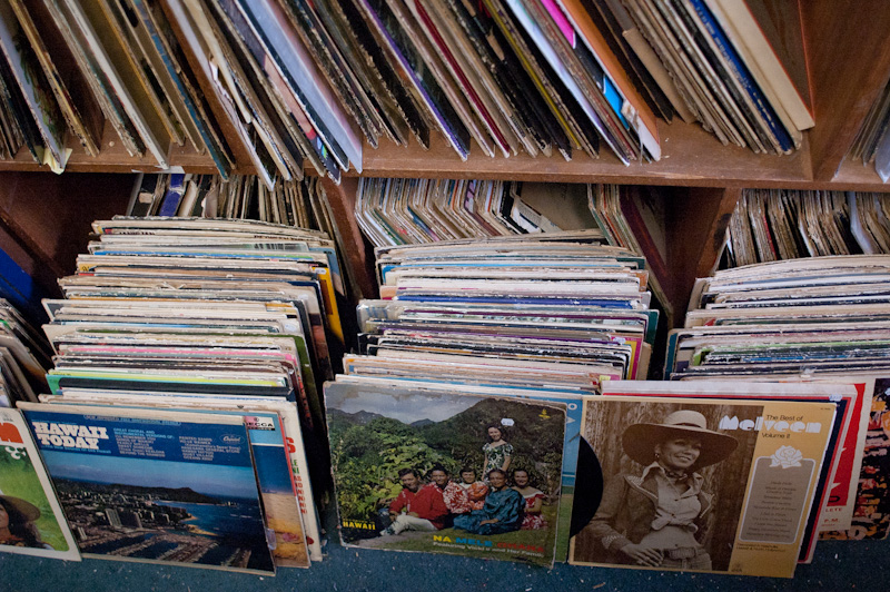 Vinyl Records at Bailey's Antiques and Aloha Shirts
