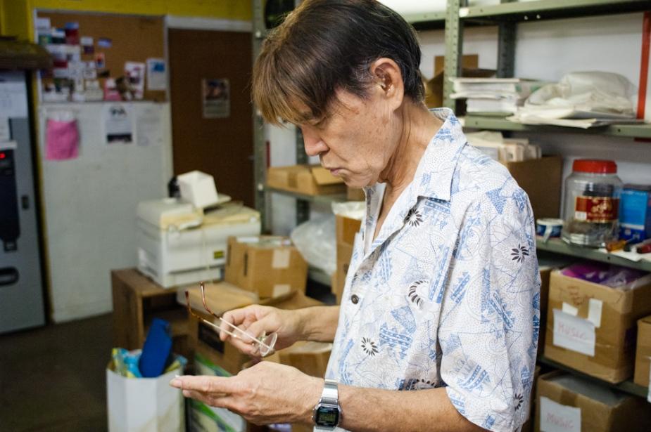 Alan Yoshioka of Harry's Music Store.