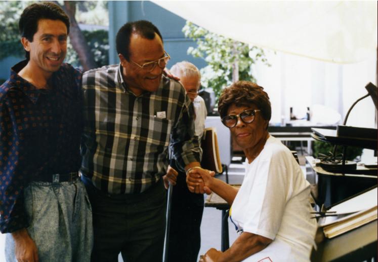 Ira Nepus with Ella Fitzgerald