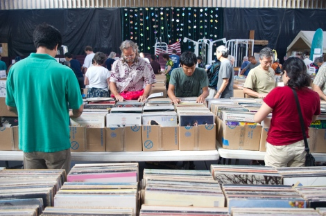 Digging through records.