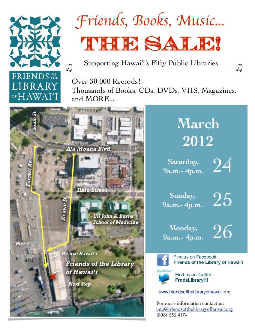 The third annual Friends, Books, Music... The Sale 2012
