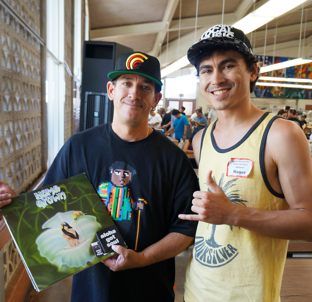 Jason Smith and Roger Bong at the Hawaii Record Fair 2012
