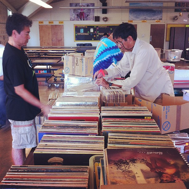 Setting up records for sale