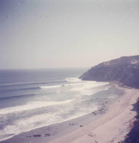 View of the beach from the Malibu house.