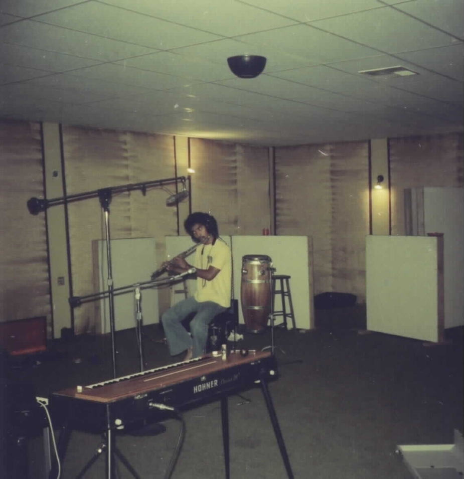 Micheal Paulo doing his thing in the studio.