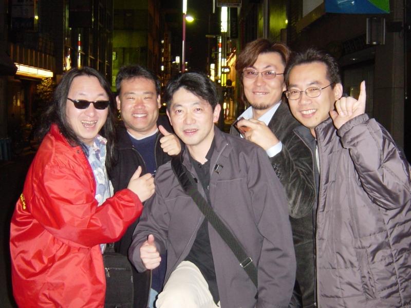 Toshi Nakada, Lance Jyo, Shotaro Yoshida, Yasuhiro Anzai, and Wataru Sakakibara (L-R).