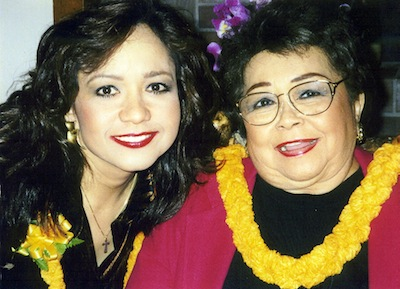 Nohelani Cypriano and her mother, Leinaala Simerson