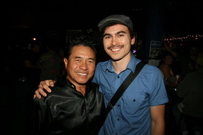 Lil Albert and Roger Bong at the Glass Candle reunion show, December 2011.