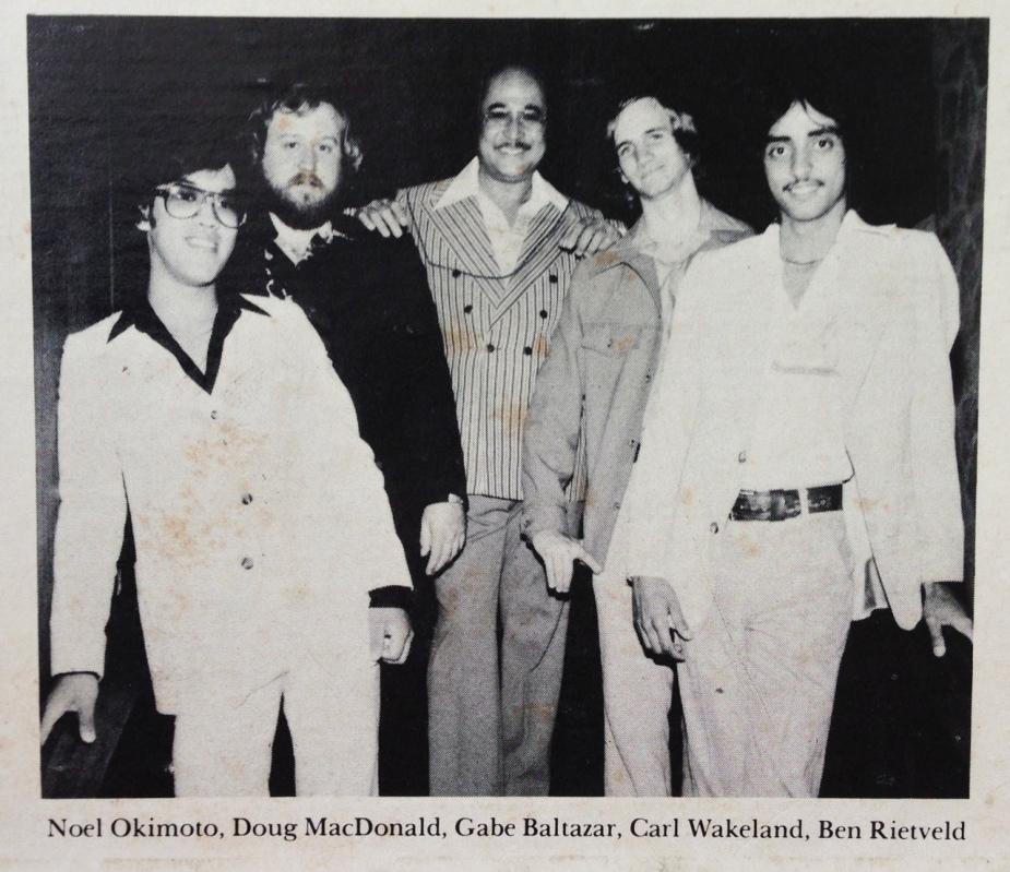 Gabe Baltazar & his band.