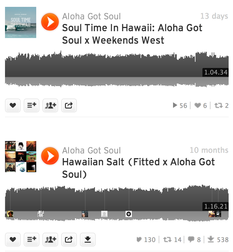 Aloha Got Soul mixes
