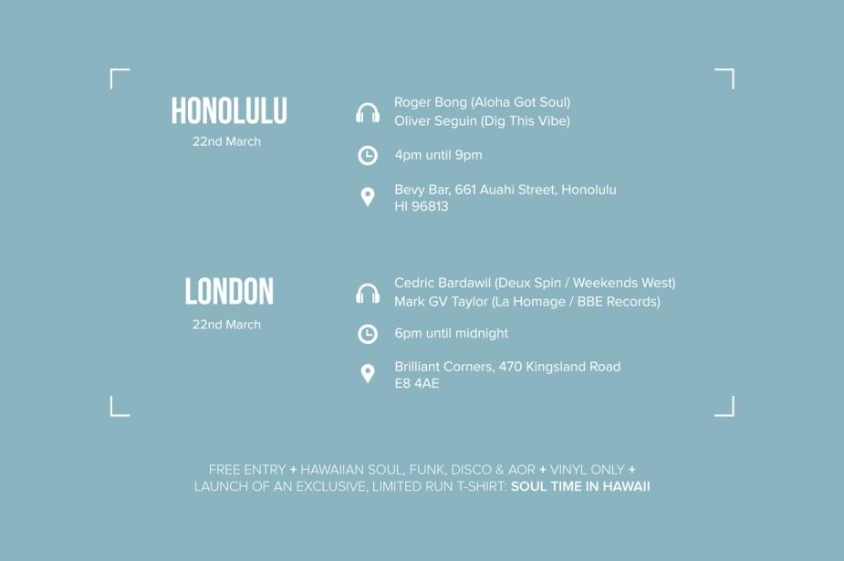 Soul Time In Hawaii - flyer back
