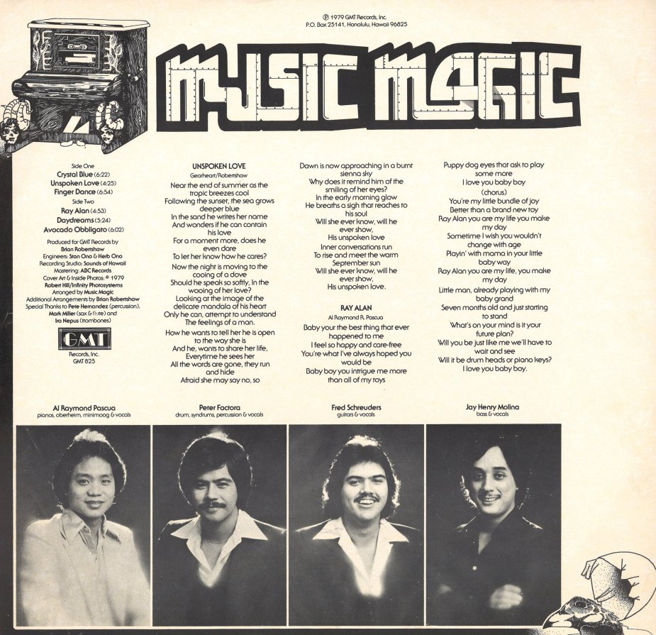 Music Magic LP insert