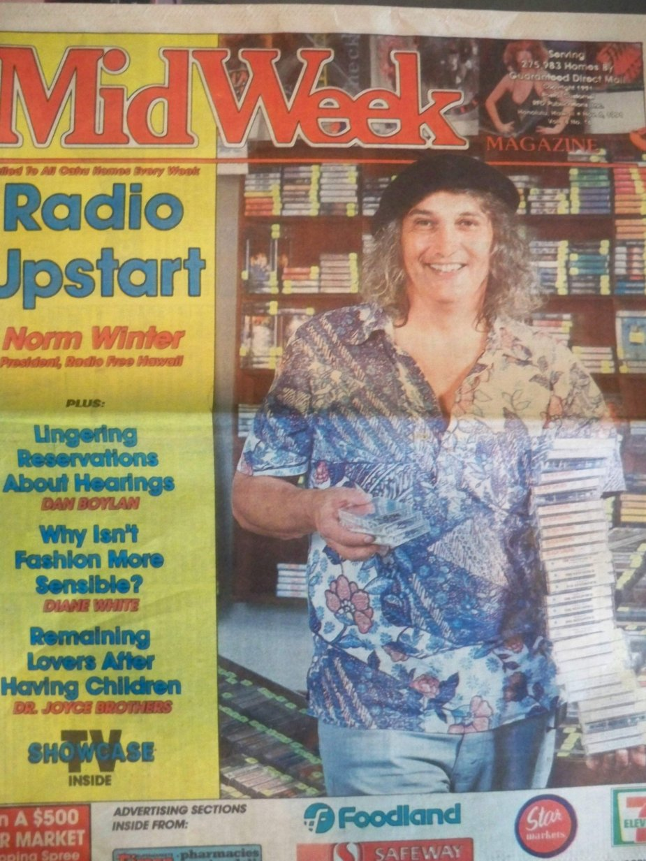 Norm Winter on the 1991 cover of Midweek.