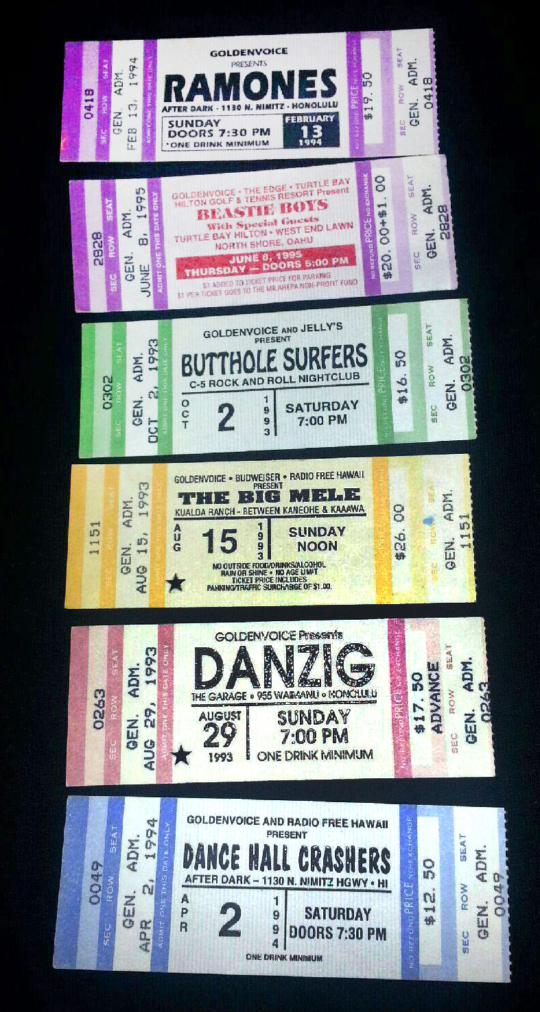 Tickets from concerts by Radio Free Hawaii / Goldenvoice
