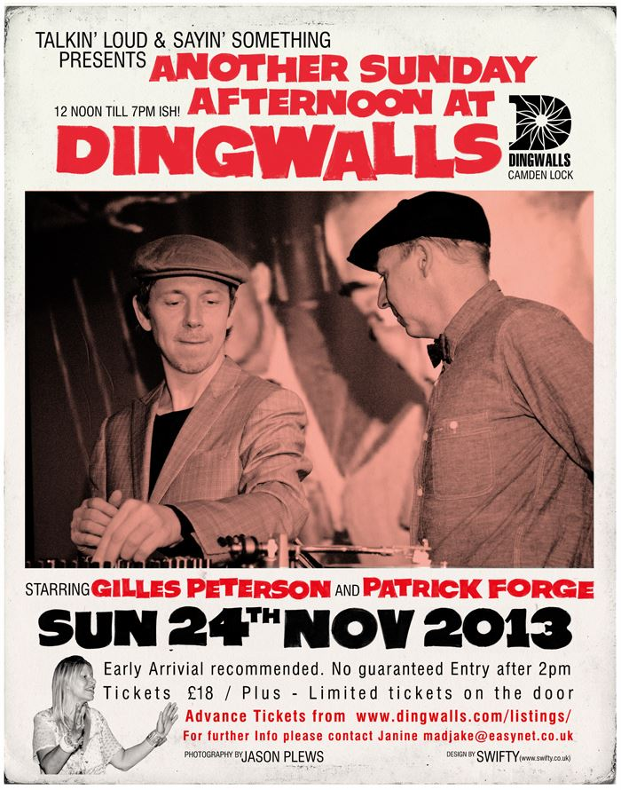 Reborn: Gilles Peterson and  Patrick Forge have brought back Dingwalls in recent years.