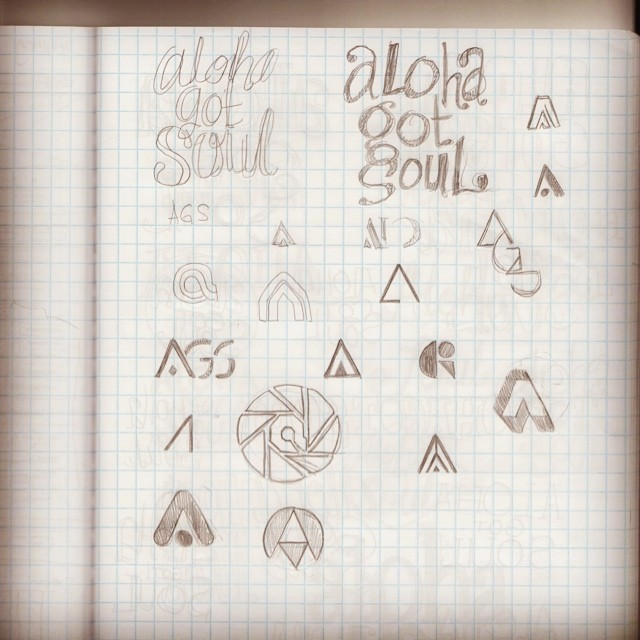 Logo sketches by designer Egamione.