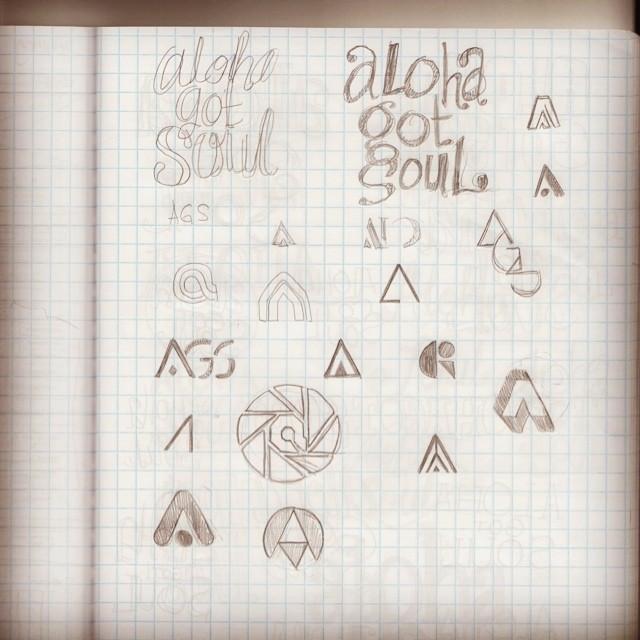 Logo sketches by designer Egamione.
