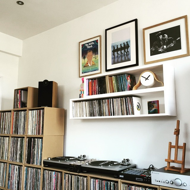 Rob's listening station at home in London.