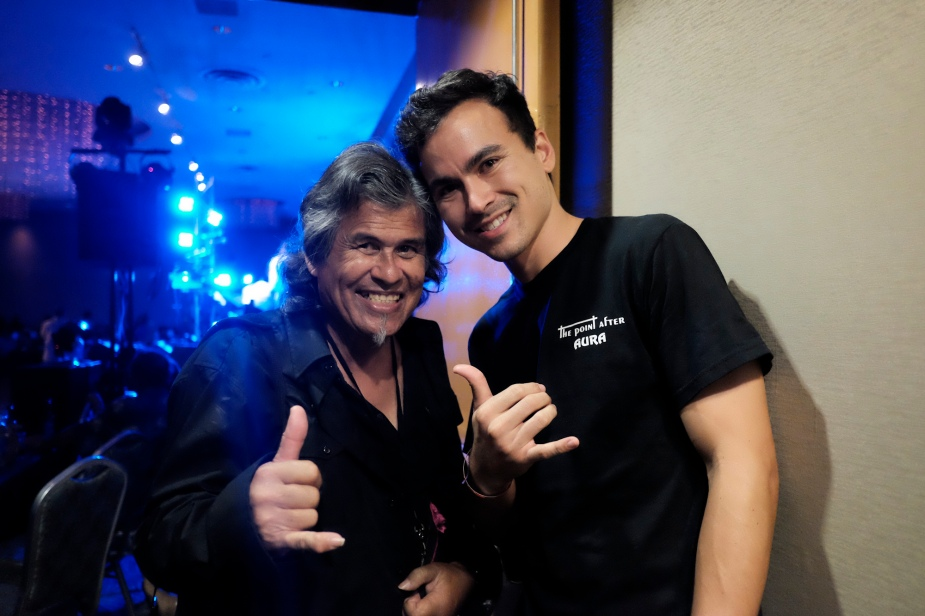 John Rapoza and Roger Bong at the 70s Nightclub Reunion concert, August 2015.