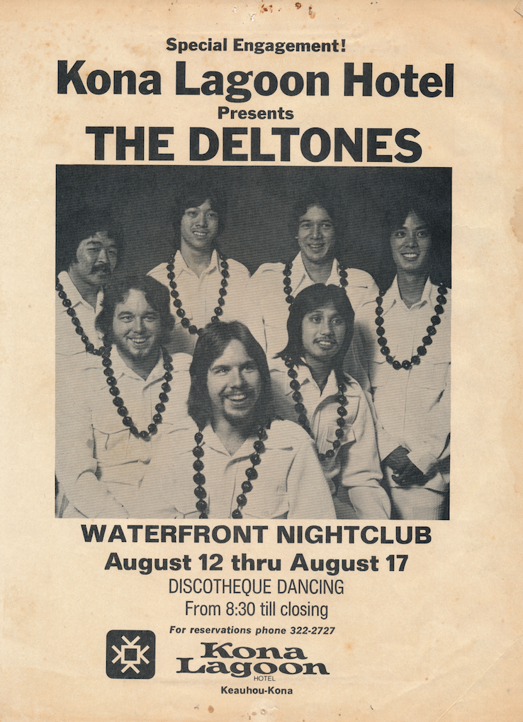 Mike Lundy and his band, The Deltones, early 1970s.