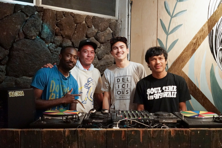 David Jordan, Hideki Yamamoto, Roger Bong and Oliver Twist at Soul Time In Hawaii.