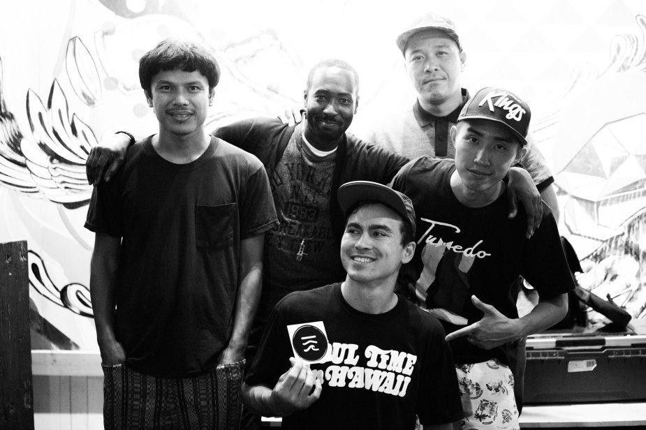 L-R: Oliver Seguin, David Jordan, Roger Bong, Hideki Yamamoto, DJ Notoya.