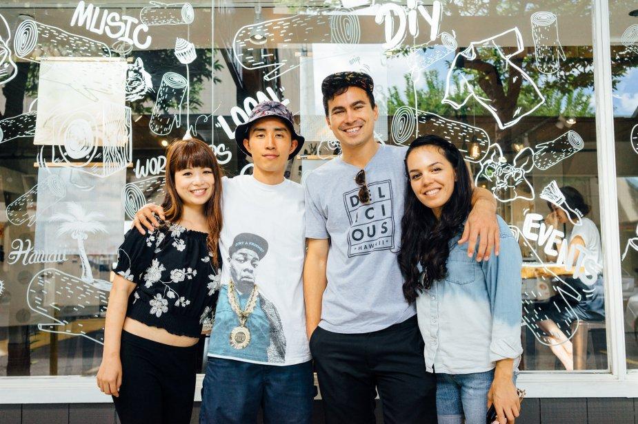 L-R: Mayu & Kei Notoya, Roger Bong & Leimomi Acia.